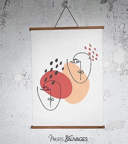 Soldes Hiver 2020 - wishlist - affiche Jacqueline Murs Sauvages