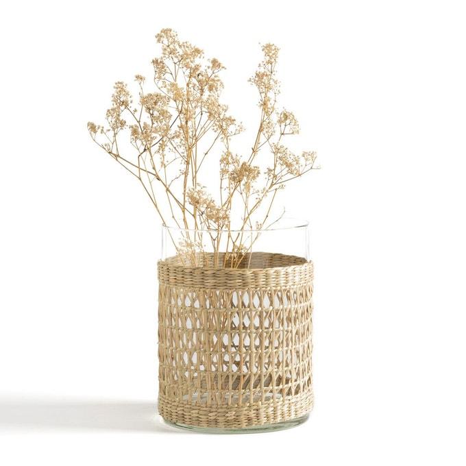 Soldes Hiver 2020 - wishlist - Vase verre et tressage Kézia - La Redoute Intérieurs